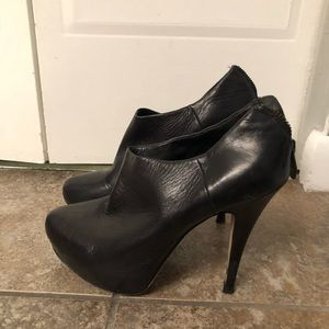 Vince Camuto black leather bootie